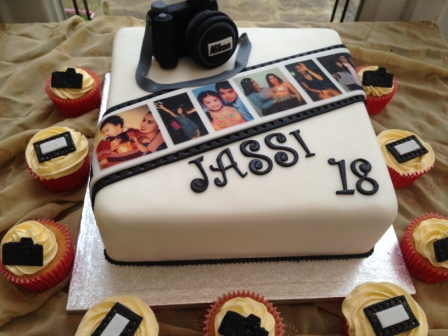 Photography Themed Birthday Cake